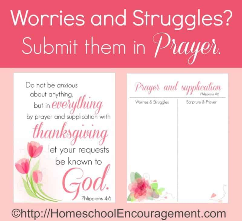 Worries and Struggles? Time for Prayer!