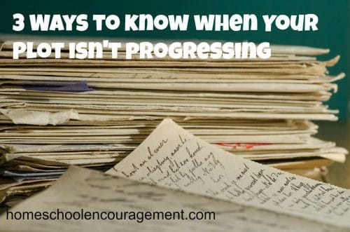 How do you know when your plot isn't progressing?  You've hit a roadblock and need inspiration.  Take a look at ways to help you with ideas to get your writing back on track.  #homeschool