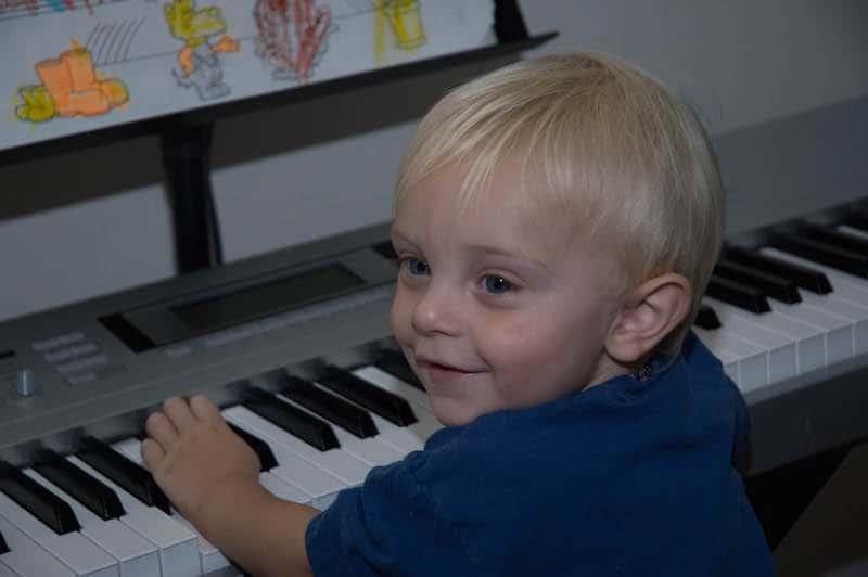 Talk.Read.Sing. First Five California. Caleb at keyboard while we sing.