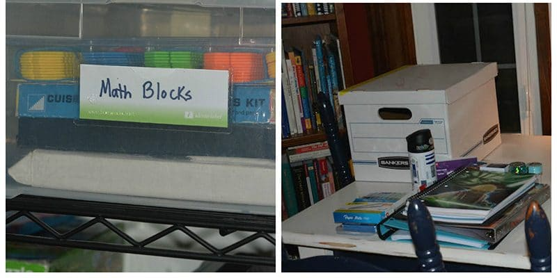 Organizing your teaching supplies, school supplies, and papers to maximize space and function.
