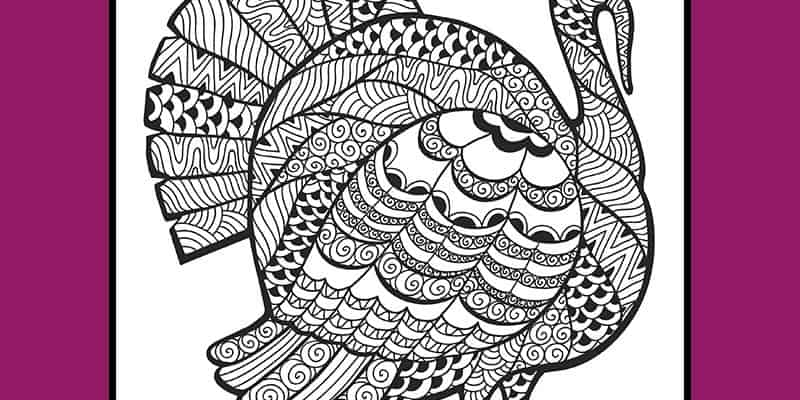 Free Turkey Coloring Page for Thanksgiving