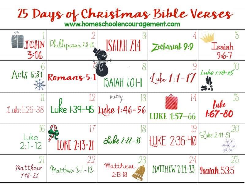 25 days of christmas bible verses - Random things every house needs ...