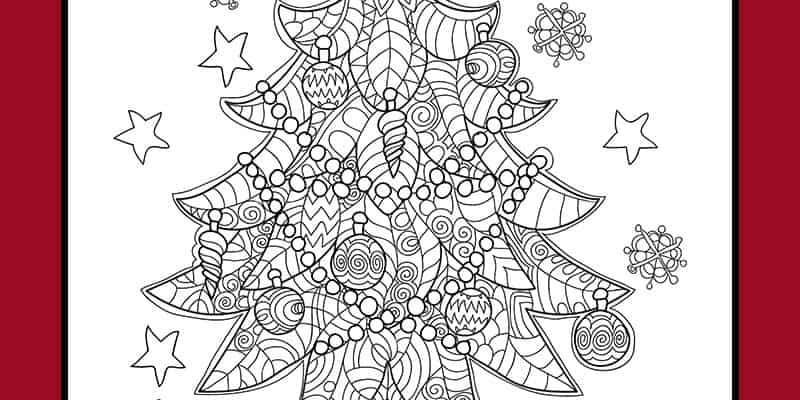 Free Christmas Tree Coloring Page