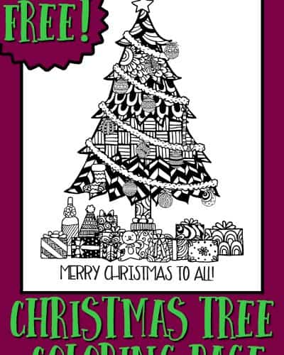 Christmas Coloring Pages A Tree