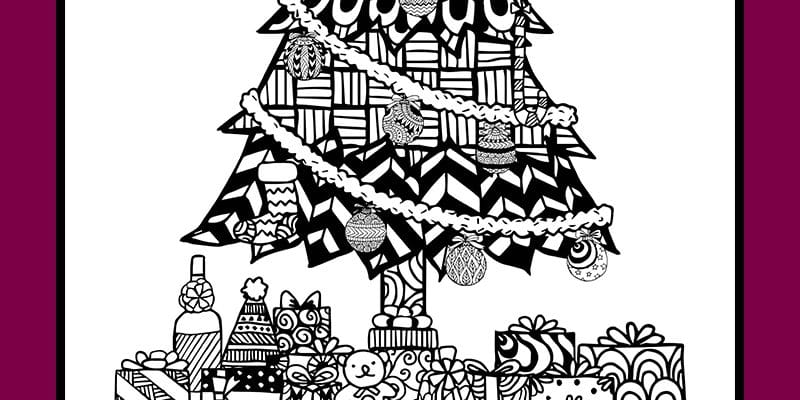 Christmas Coloring Pages – a Christmas Tree
