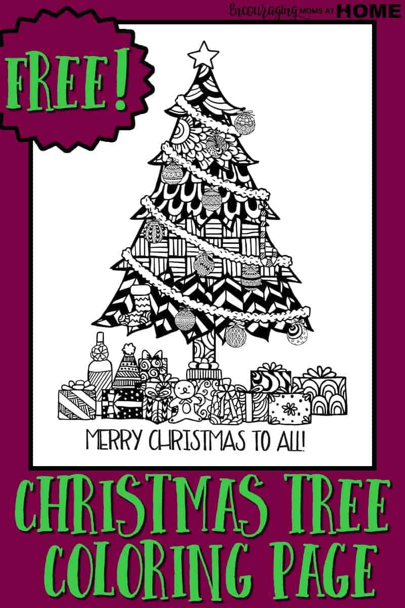 Looking for one more tree to decorate? Do you love to color? Our Christmas tree coloring page is FREE. Download it today.