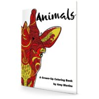 Animals- A Grown Up Coloring Book - Square