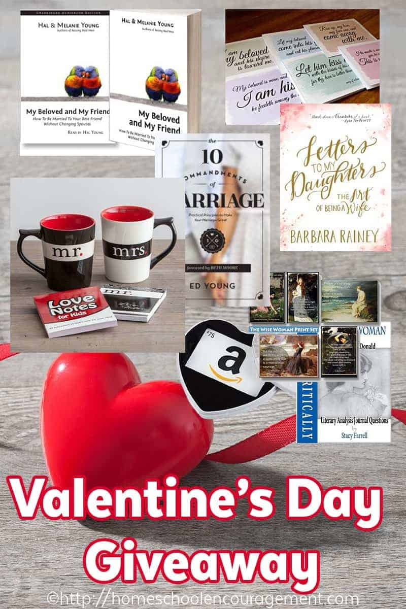 Huge Giveaway plus ideas of the Best Gifts for Homeschool Moms on Valentine's Day