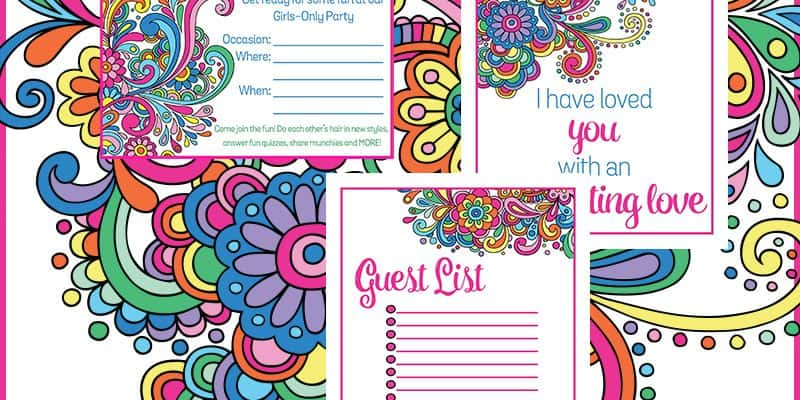 Best Fun Party Ideas for Tween Girls: Free Printable Party Planner and Decor!