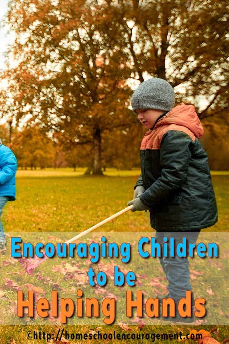 Children Raking: Encouraging Children to be Helpful