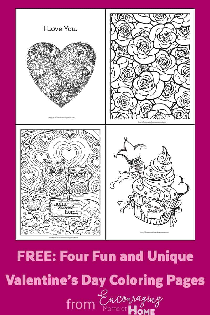 Valentine's Day Free Coloring Pages - fun and unique!