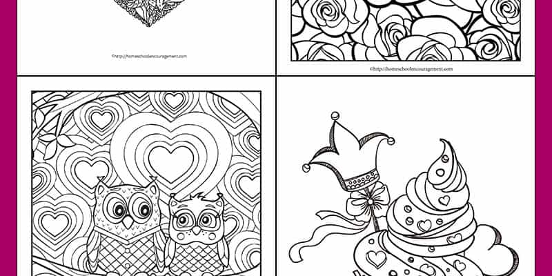 Free: Four Fun and Unique Valentine's Day Coloring Pages