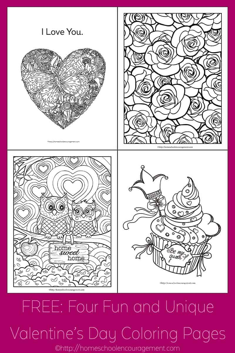 free four fun and unique valentine u0027s day coloring pages