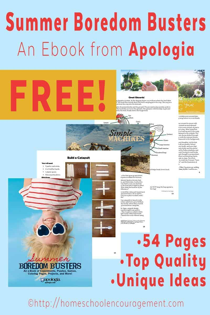 Summer Boredom Busters: A Free ebook from Apologia Educational Ministries