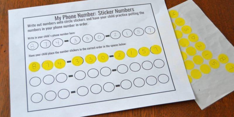 Five Ways to Teach Children Their Phone Number