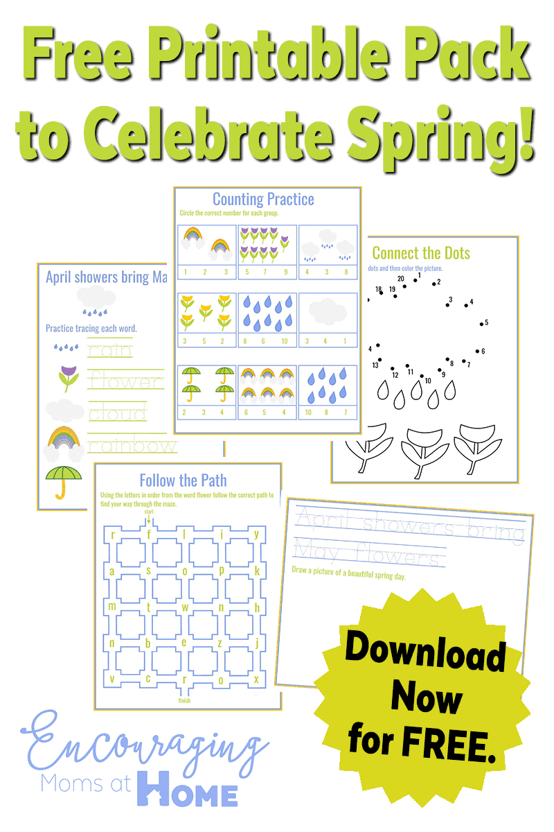 Free Spring Printable Pack - April Showers - May Flowers