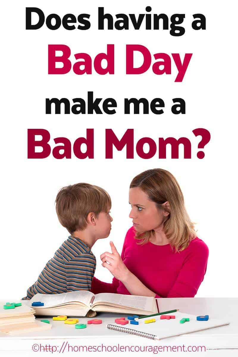 What are your thoughts? Does having a bad day make you feel like a bad mom when you lie down to sleep?