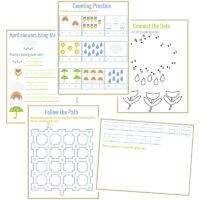 April Showers Bring May Flowers: Spring Preschool Activities