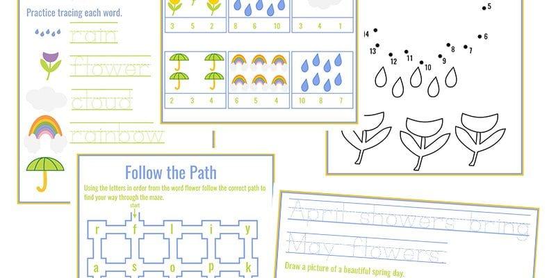 April Showers Bring May Flowers: Spring Preschool Activities