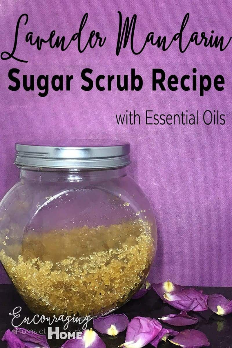Do you love the smell of lavender?  Here is a sugar scrub recipe to make for an exfoliating massage for your hands and feet. It gives you a wonderful spa experience at home.