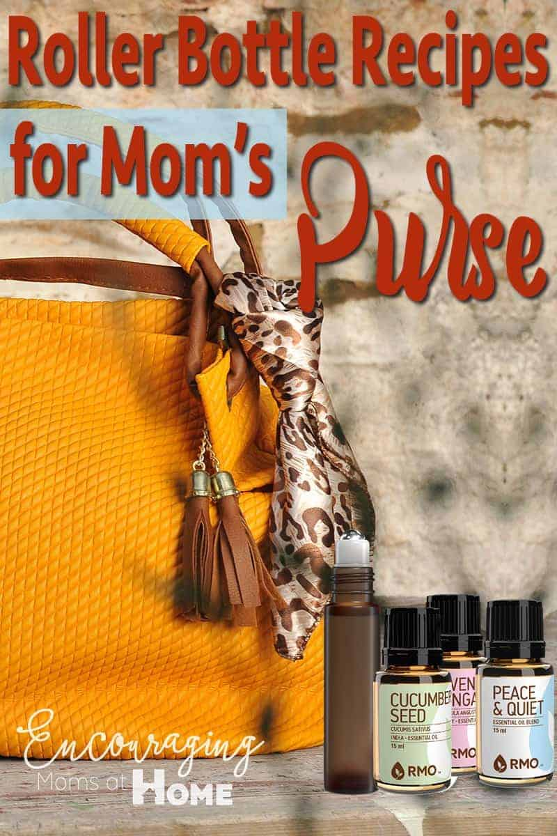 Essential Oils, Essential Oil Roller Bottle Recipes for Mom's Purse