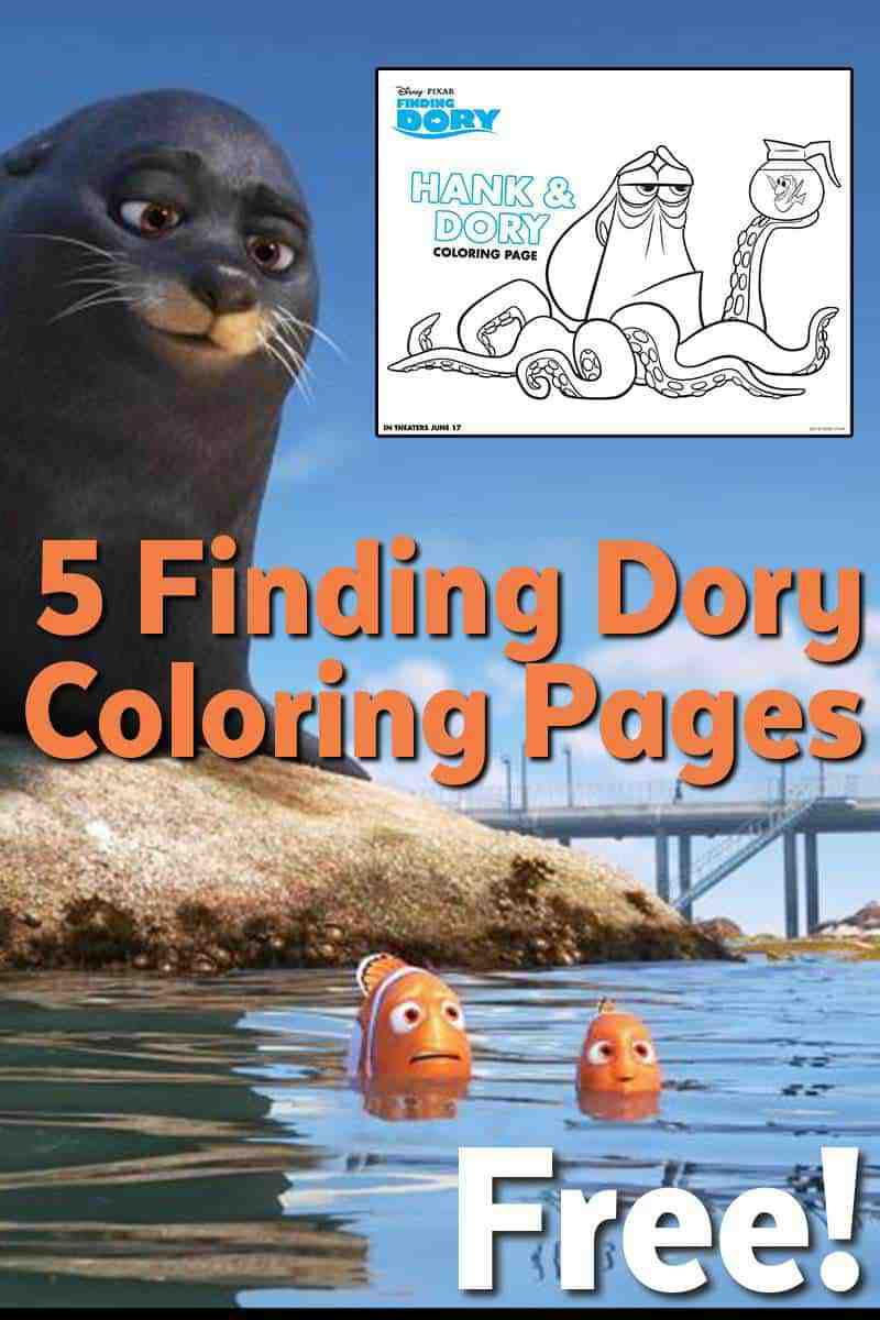 finding dory coloring pages free printable