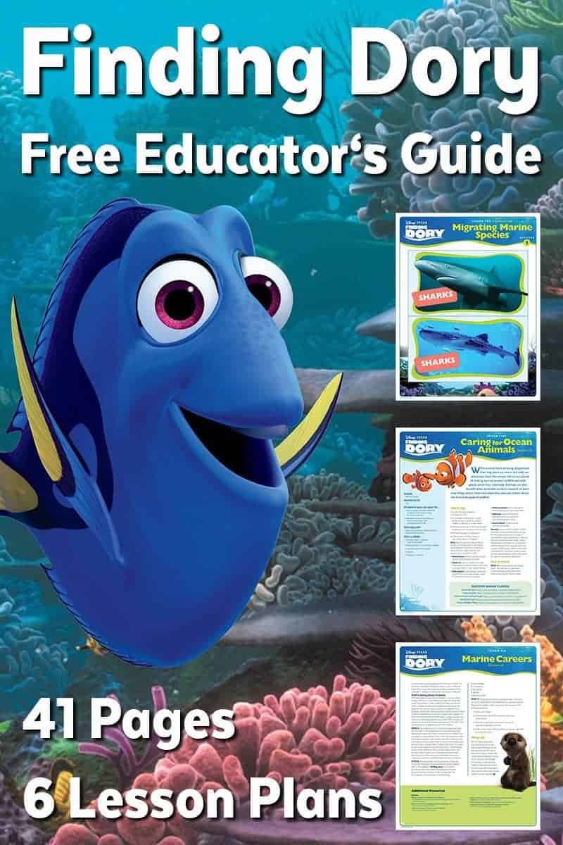 Finding Dory Free Educator's Guide - Free Finding Dory Printable