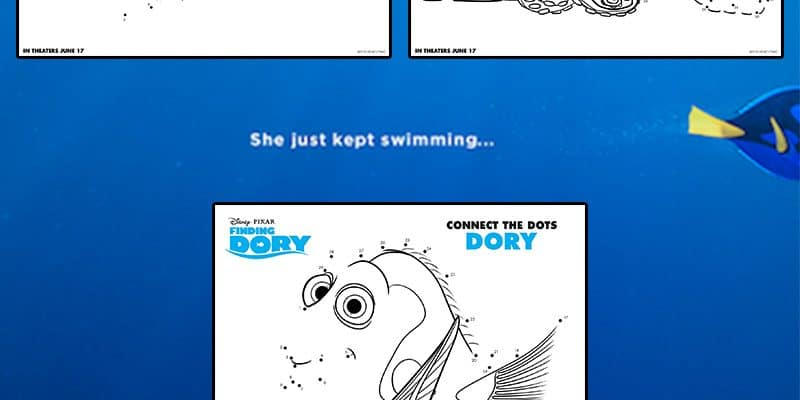 Finding Dory Dot-to-Dots: Free Printable