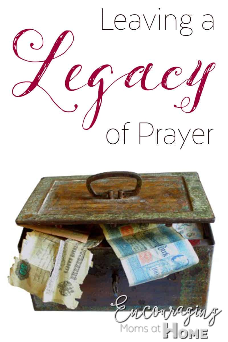 Leaving a Legacy of Prayer- Free Printable Prayer Journals