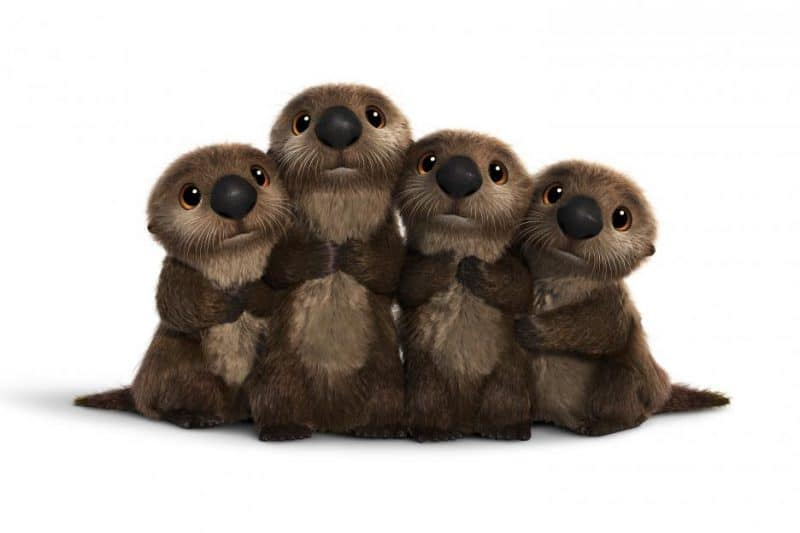 Finding Dory - Otters have a cuddle party.