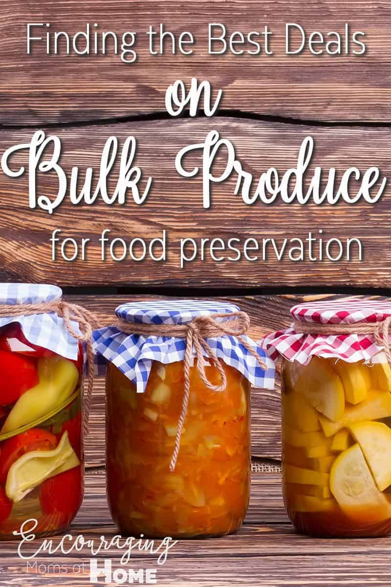 Are in interested in preserving your own food so you have control over the ingredients?  Does it seem too expensive? Let's talk about how to find inexpensive bulk produce, 'cause that's what you need.