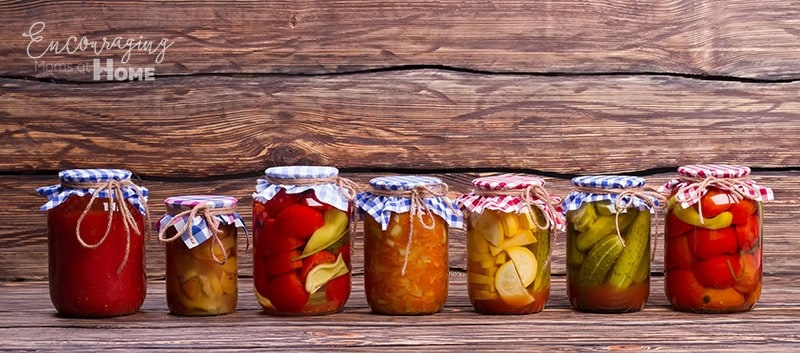 Vegetables and Fruits in Jars - Produce for Canning
