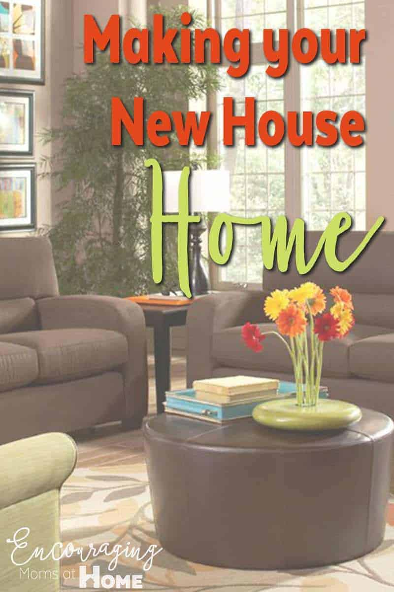 Making your new house a home quickly and easily