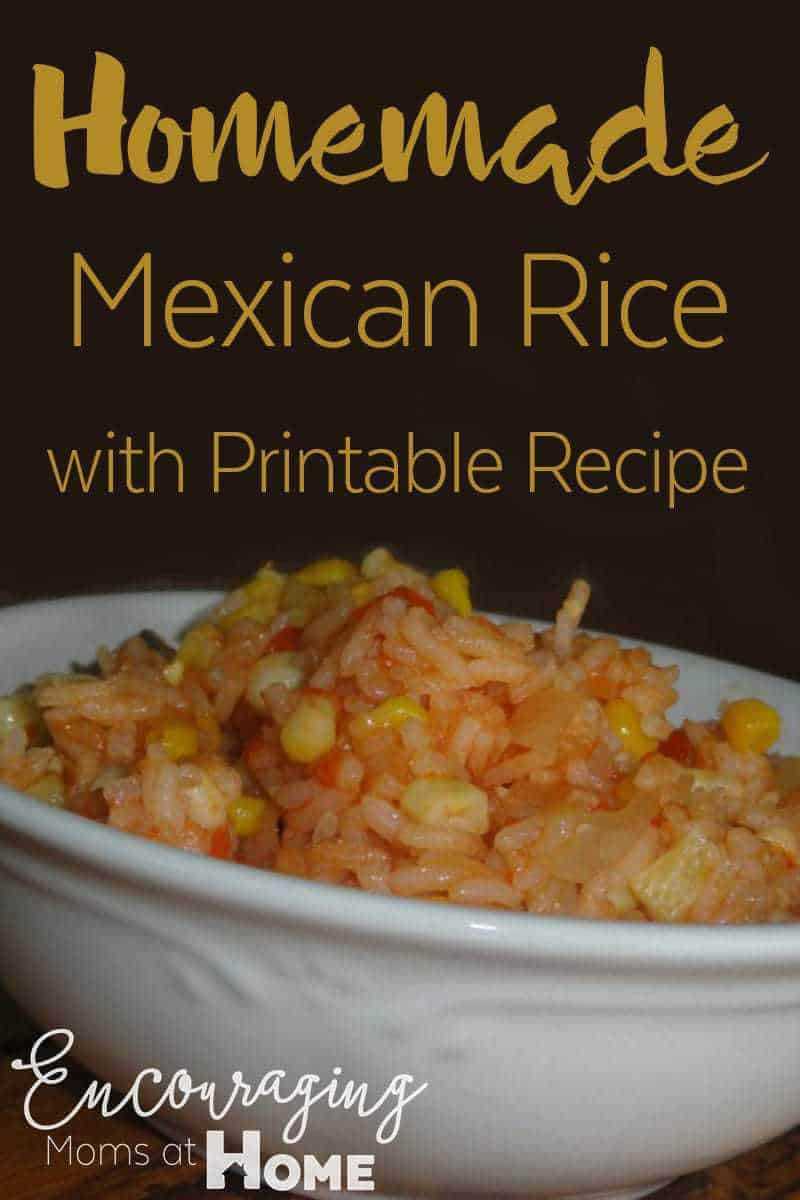 A variation on Mexican rice our family loves.