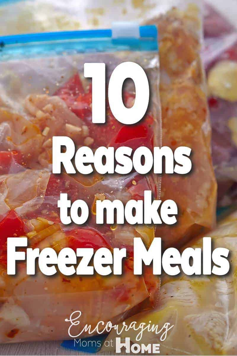 Looking for a few good reasons to make freezer meals?  Take a look at 10 reasons that will save you time and help you know what's for dinner.