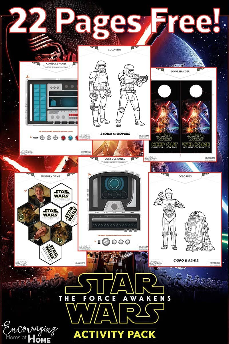star wars the force awakens free coloring pages and activity pack
