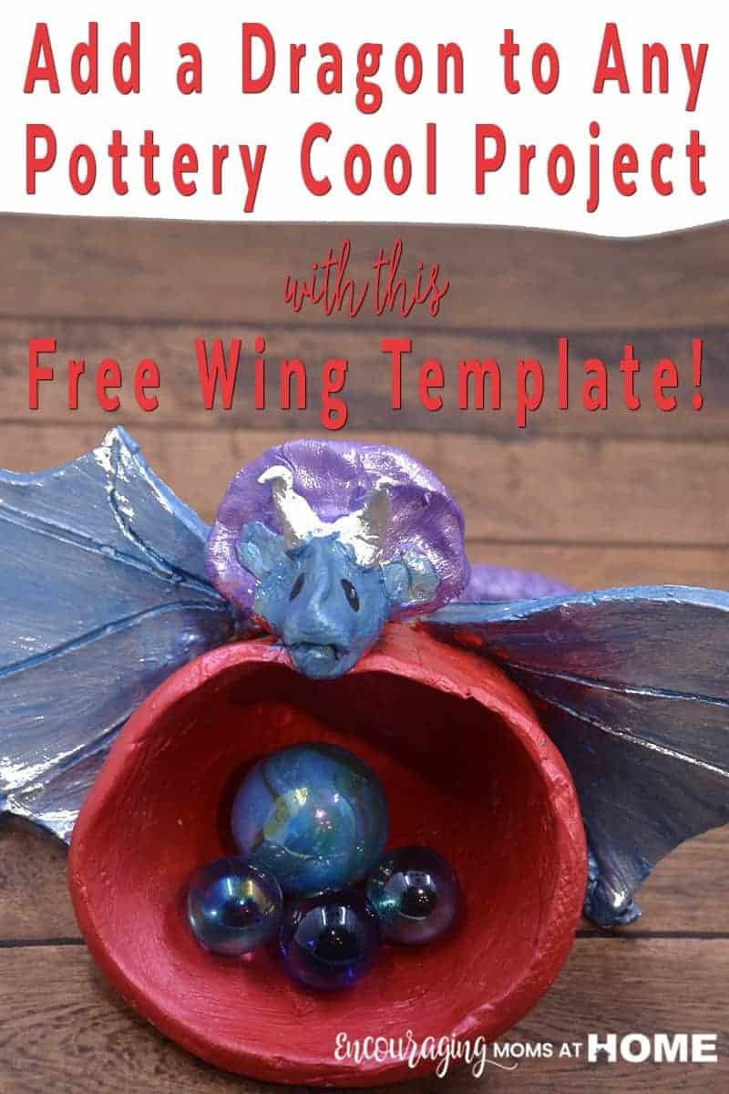 Do your kids love dragons? Take a look at how we added a dragon to our Pottery Cool project. A FREE wing template is included so that you can add a dragon to any Pottery Cool project.