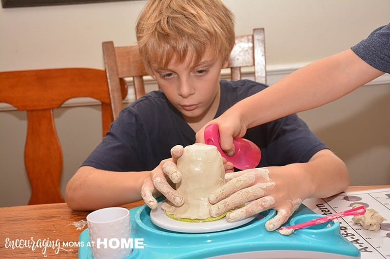 caleb-using-pottery-cool-wheel