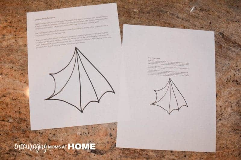 Dragon Wings Template for Pottery Cool