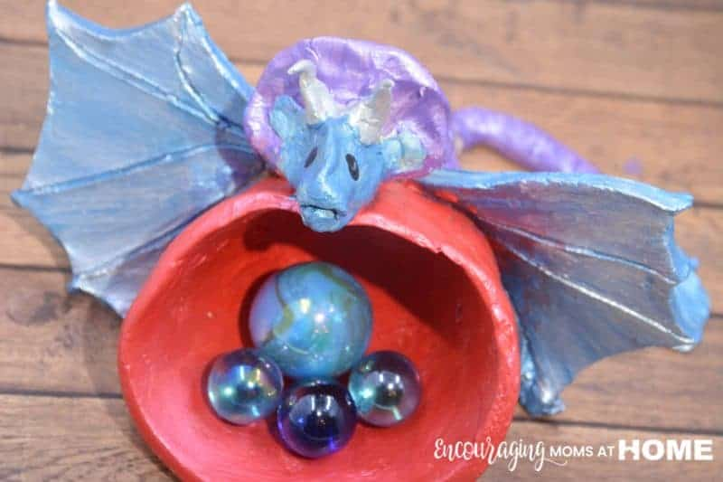Ember: A Dragon made with Pottery Cool