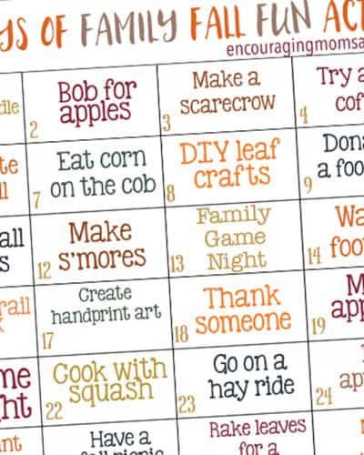 Fall Activities for Families - Games