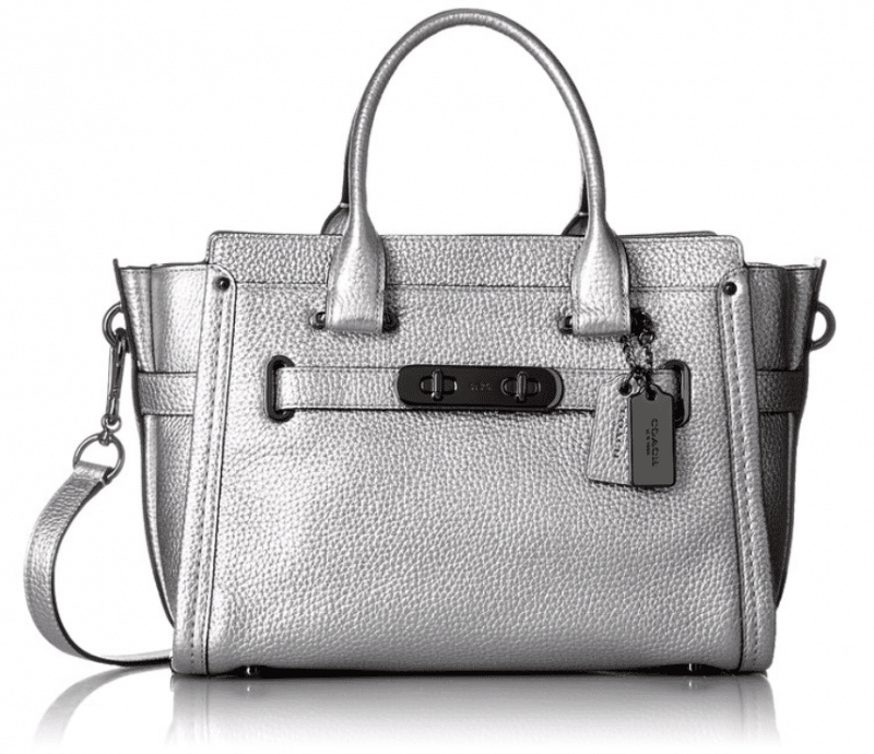 COACH purse, silver color