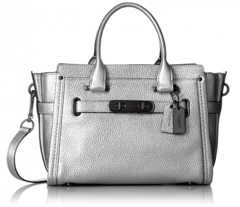 COACH purse, silver color
