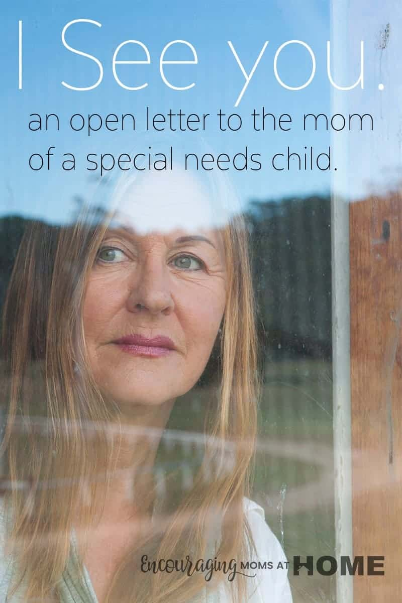 Are you the mom of a special needs child? We know your stuggle is real but let me encourage you. You can do this and you will be an inspiration to all who know you. #specialneeds