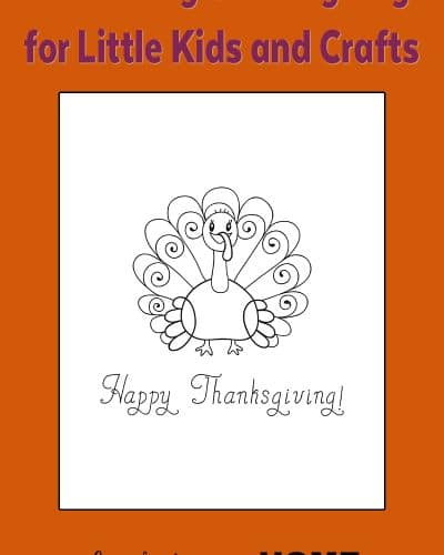An Easy Turkey Coloring Page For Little Kids Or Craft Templates