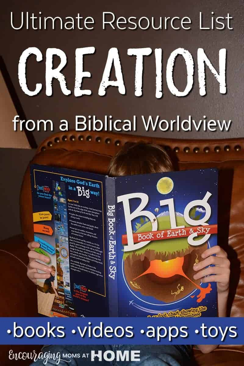 Books about creation, videos about creation, toys for creation, apps for creation, creation science resources. Biblical view