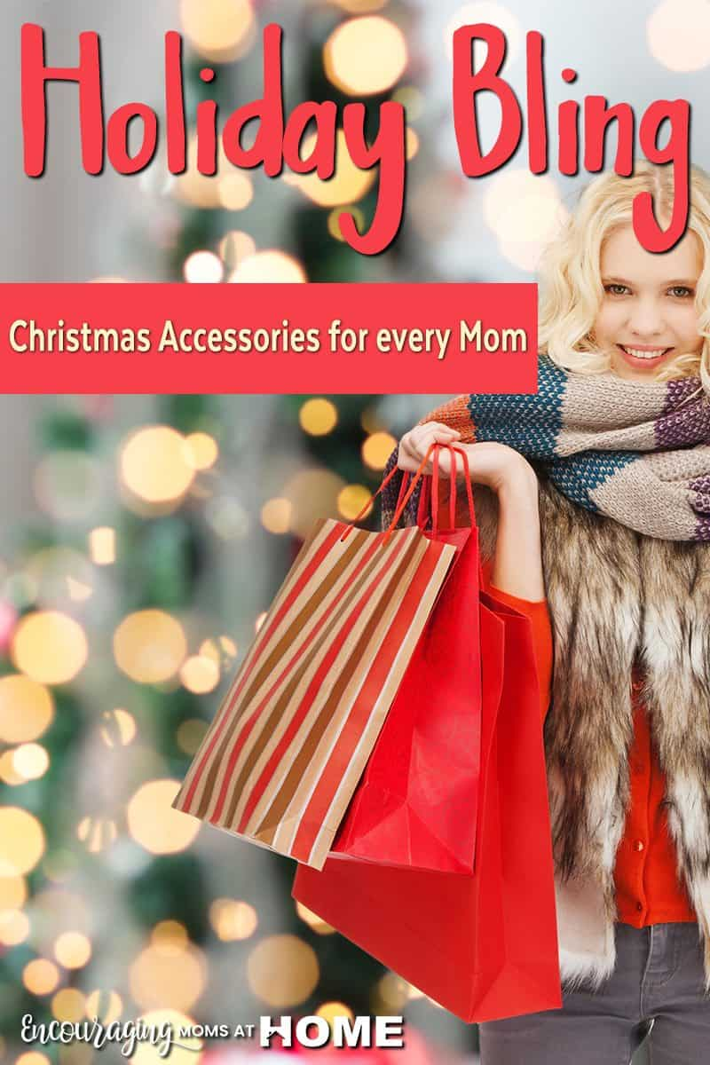 practical holiday accessories for moms to brighten up any outfit with a little holiday sparkle.