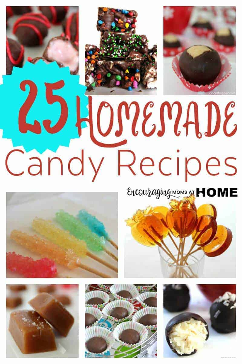 Do you love homemade candy during the holiday season? Are you looking for a few new recipes? Take a look at this collection of 25 recipes that are sure to have your family, friends and party guests asking for just one more piece of candy.
