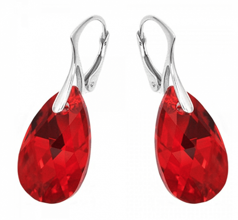 Cute red earrings for Christmas