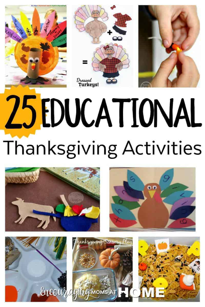 Learning Activities for Kids at Thanksgiving
